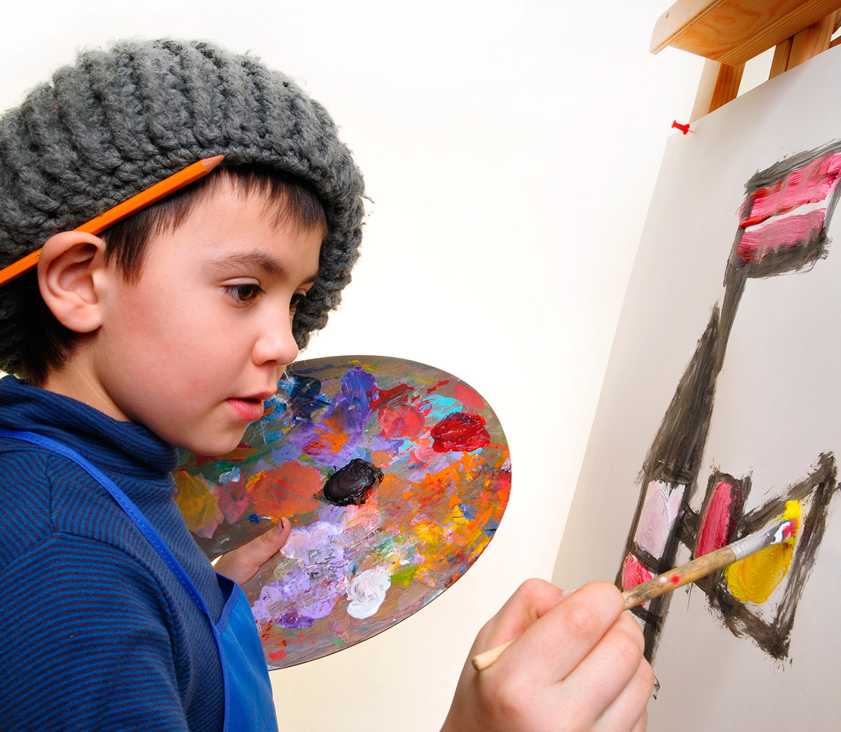Resultado de imagen para artes plasticas pintura para niños