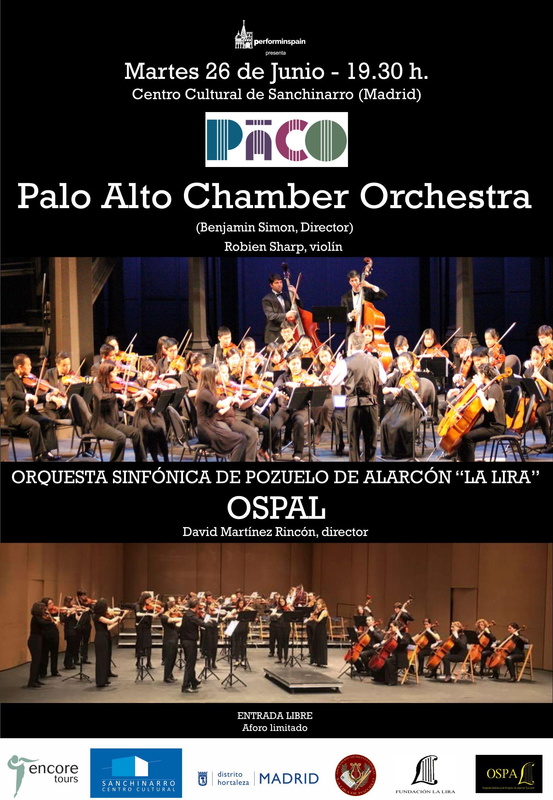 PALO ALTO CHAMBER ORCHESTRA Y LA OSPAL