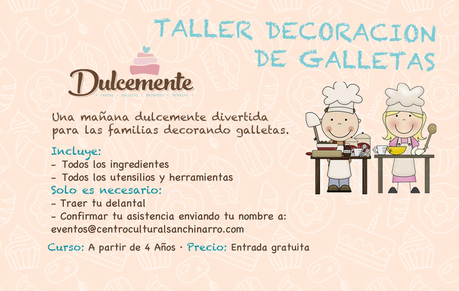 TALLER DE DECORACIÓN DE GALLETAS